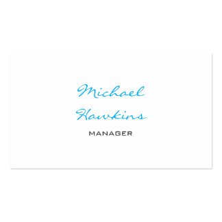 Trendy Blue Black White Contemporary Manager Pack Of Standard Business Cards