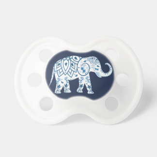 Trendy Blue Bohemian Lotus Elephant Dummy