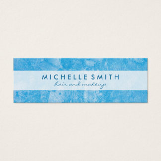 Trendy Blue Grunge Mini Business Card