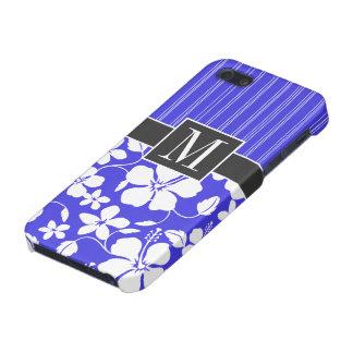 Trendy Blue Hibiscus Flower iPhone 5 Cases
