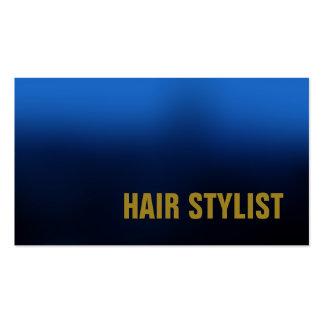Trendy Blue Modern Hair Stylist Pack Of Standard Business Cards