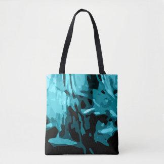 Trendy Blue Teal Aqua Camo Pattern Tote Bag