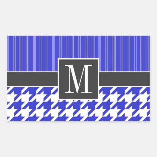 Trendy Blue & White Houndstooth Sticker