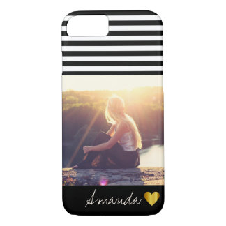 Trendy boho filter personalized photo and name iPhone 8/7 case