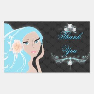 Trendy Bride Bridal Shower Invitation Rectangular Sticker