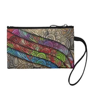Trendy Bright Floral Print Coin Purse