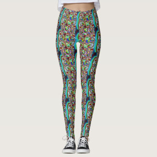 Trendy Broken Mosaic Day Of The Dead Leggings