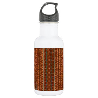 Trendy Brown and Orange Chevron Aztec 532 Ml Water Bottle