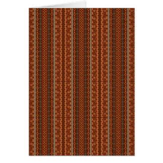 Trendy Brown and Orange Chevron Aztec Card
