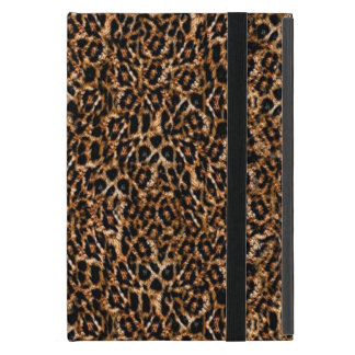 Trendy Brown Exotic Fur Pattern Leopard Print iPad Mini Cover