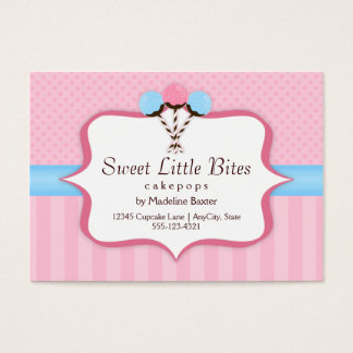 Trendy Cake Pop Bakery Business Cards