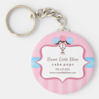 Trendy Cake Pop Bakery Key Ring