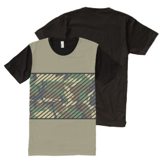 Trendy Camo All-Over Print T-Shirt