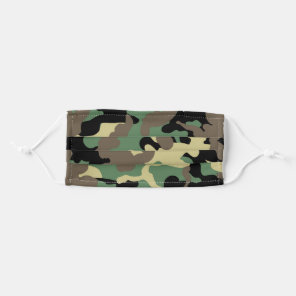 Trendy Camo Green Pattern Reusable Cloth Face Mask