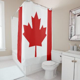 Trendy Canada flag Shower curtain