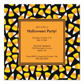 Trendy Candy Corn Halloween Invitation