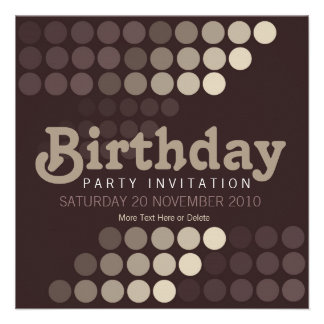 Trendy Cappuccino Cafe Birthday Party Invitation