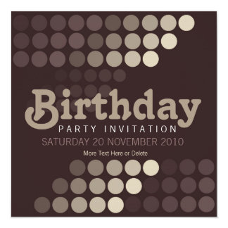 Trendy Cappuccino Cafe Birthday Party Invitation