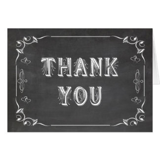 Trendy Chalkboard Customizable Thank You Cards