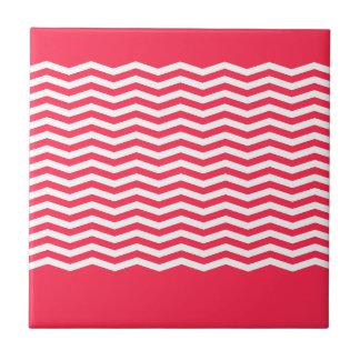 Trendy chevron monogram ceramic tile