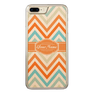 Trendy Chevron Pattern with Name Carved iPhone 8 Plus/7 Plus Case
