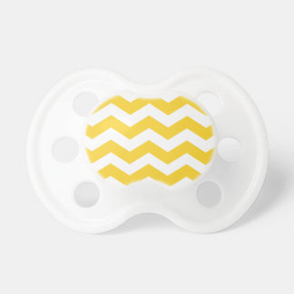 Trendy Chevron Yellow and White Stripes Pacifiers