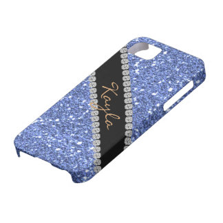 TRENDY CHIC BLUE CRYSTAL BLING  I phone 5 COVER iPhone 5 Cover