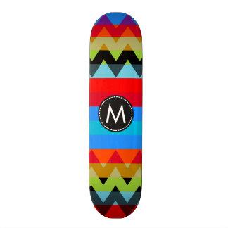 Trendy Chic Chevron Stripes Pattern #10 18.1 Cm Old School Skateboard Deck