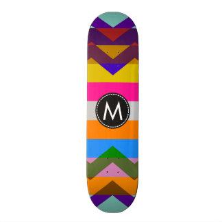 Trendy Chic Chevron Stripes Pattern Skate Deck