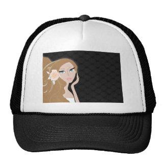 trendy chic girly fashionista bridal shower cap