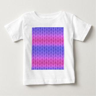 Trendy Chic Girly Pink Blue Zigzag Stripes Patter Tshirt