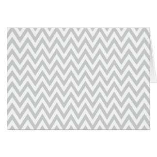 Trendy chic light gray chevron zigzag pattern card