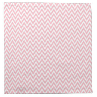 Trendy chic light pink chevron zigzag pattern printed napkins