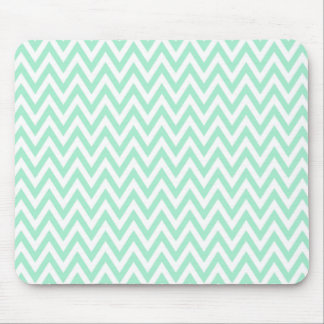 Trendy chic mint green chevron zigzag pattern mouse mat