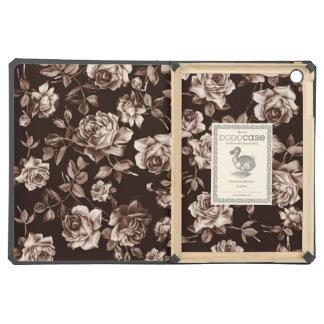 Trendy Chic Sepia Tone B&w Vintage Elegant Floral Case For iPad Air