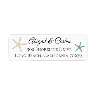 Trendy Chic Starfish Return Address