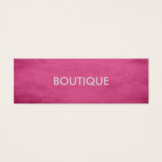 Trendy Chic Textured Pink Fashion Boutique Mini Business Card