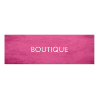 Trendy Chic Textured Pink Fashion Boutique Pack Of Skinny Business Cards