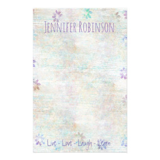 Trendy Chic Watercolor Grunge Personalized Stationery