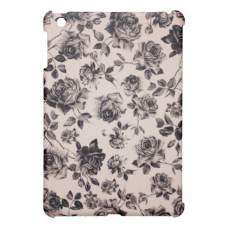 Trendy Chic White & Black Vintage Elegant Floral Case For The iPad Mini