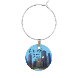 Trendy Chicago Skyline Wine Charm