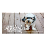 Trendy Christmas Photo Greeting Customised Photo Card