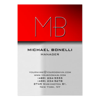 Trendy chubby grey red attractive business card