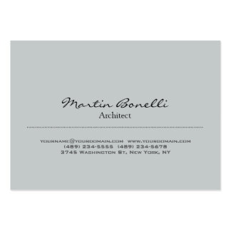 Trendy Chubby Stylish Grey Architect Business Card Chubby Business Cards