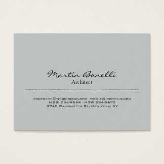 Trendy Chubby Stylish Grey Architect Business Card