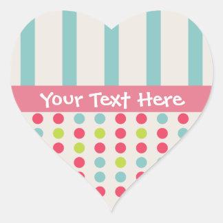 Trendy Circle Custom heart Stickers