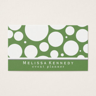 Trendy Circles Pattern Business Cards Green
