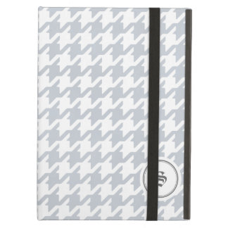 Trendy classic grey houndstooth with monogram iPad air case