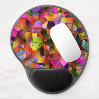 Trendy Color Abstract Art Stained Glass Gel Mouse Mat