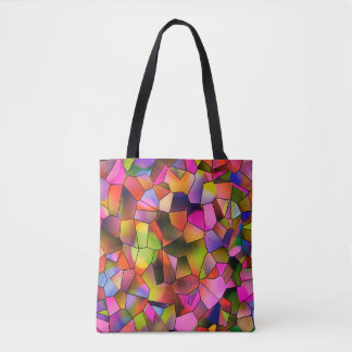 Trendy Color Abstract Art Stained Glass Tote Bag